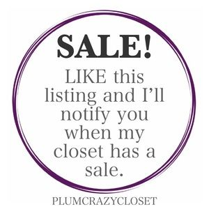 Like this listing for SALE Notifications!!